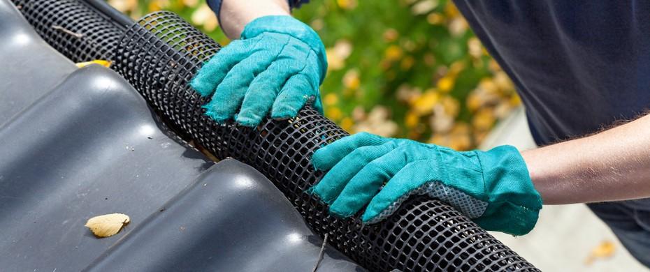 Мероприятия по защите желобов и крыши